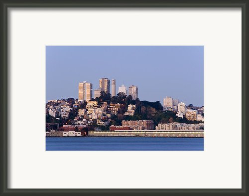 Coit Tower Sits Prominently On Top Of Telegraph Hill In San Fran Framed Print By Scott Lenhart