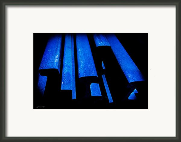 Cold Blue Steel Framed Print By Steven Milner