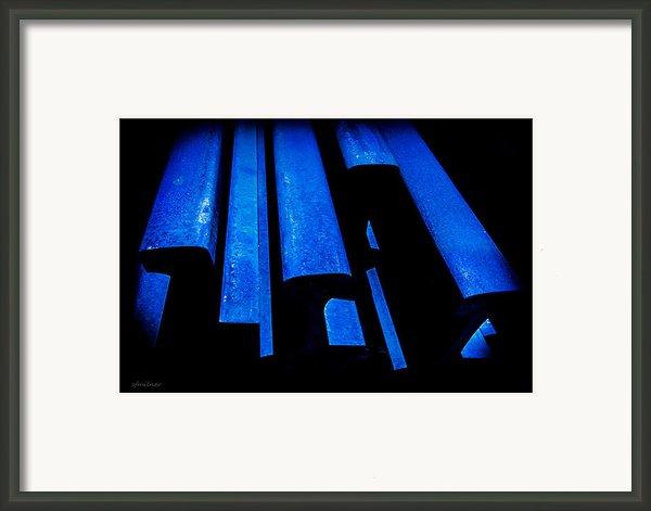 Cold Blue Steel Framed Print By Steven Milner