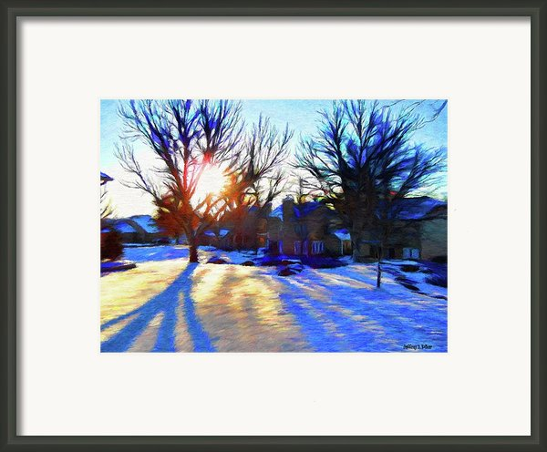 Cold Morning Sun Framed Print By Jeff Kolker