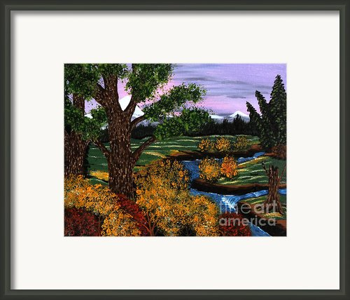 Coldest Mountain Brook Framed Print By Barbara Griffin