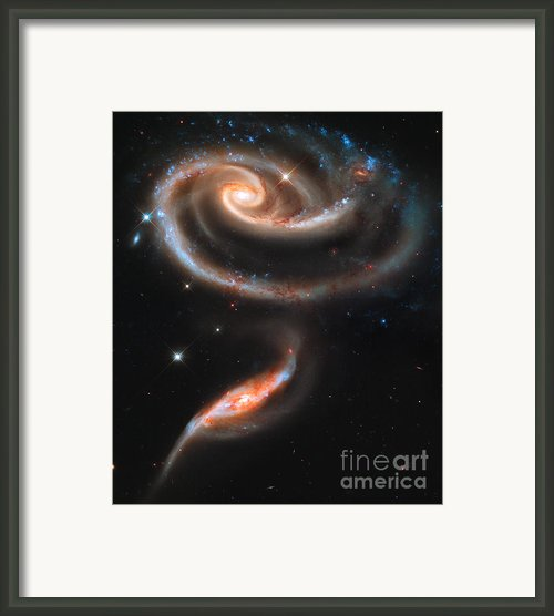 Colliding Galaxies Framed Print By Nicholas Burningham