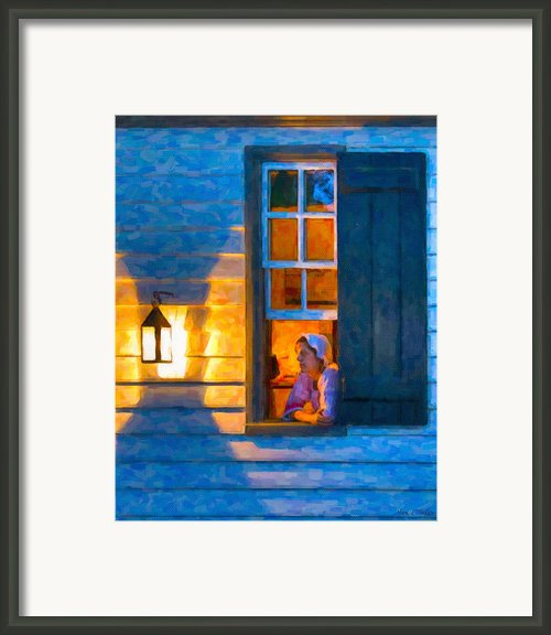 Colonial Williamsburg By Night Framed Print By Mark E Tisdale
