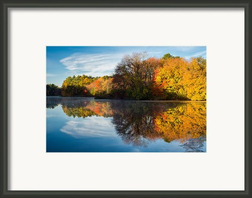 Color On Grist Mill Pond Framed Print By Michael Blanchette