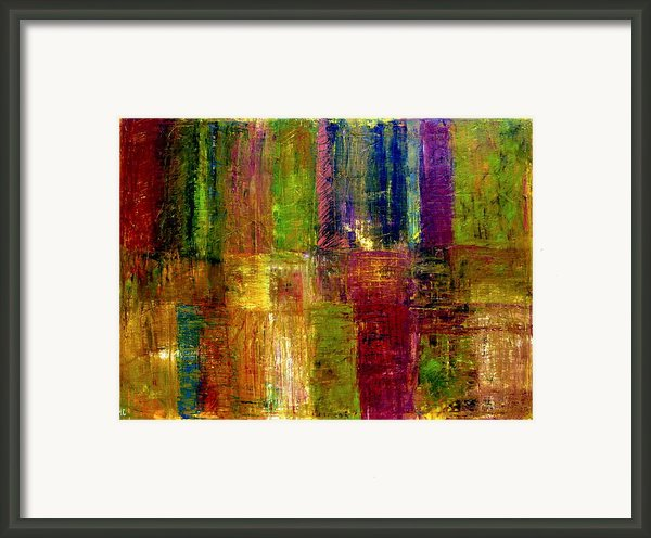 Color Panel Abstract Framed Print By Michelle Calkins