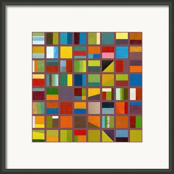 Color Study Collage 65 Framed Print By Michelle Calkins