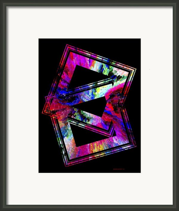 Colored Geometric Art Framed Print By Mario  Perez