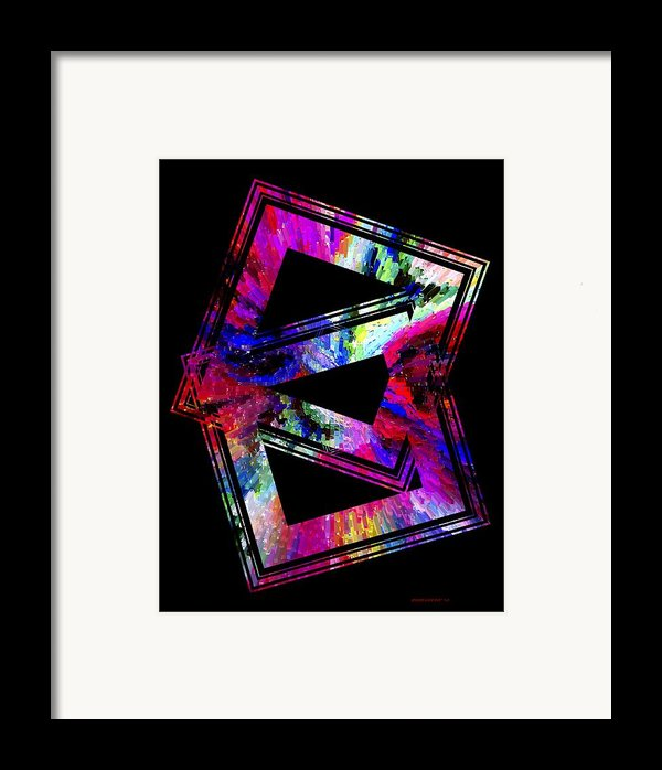 Colored Geometric Art Framed Print By Mario  Perez