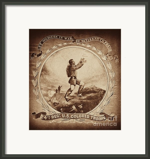 Colored Troop Recruiting Framed Print By Paul W Faust -  Impressions Of Light