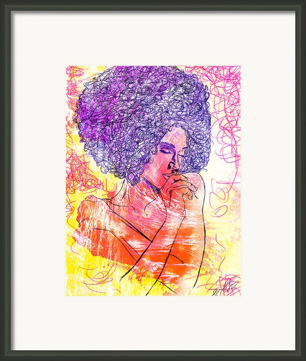 Colored Woman Framed Print By Kenal Louis