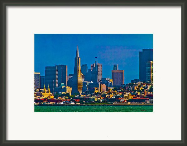 Colorful City By The Bay Framed Print By Mitch Shindelbower