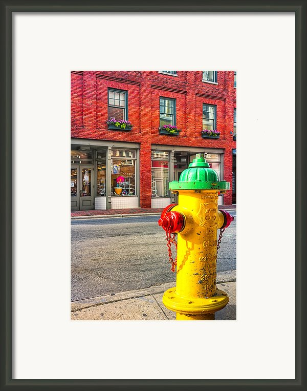 Colorful Fire Hydrant On The Streets Of Asheville Framed Print By Mark E Tisdale