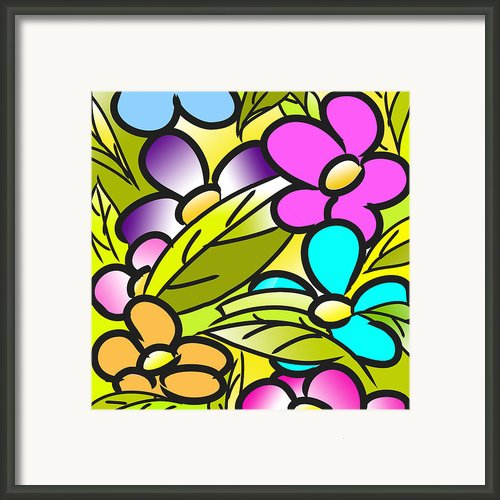Colorful Floral Nursery Wall Art Framed Print By Nursery Art