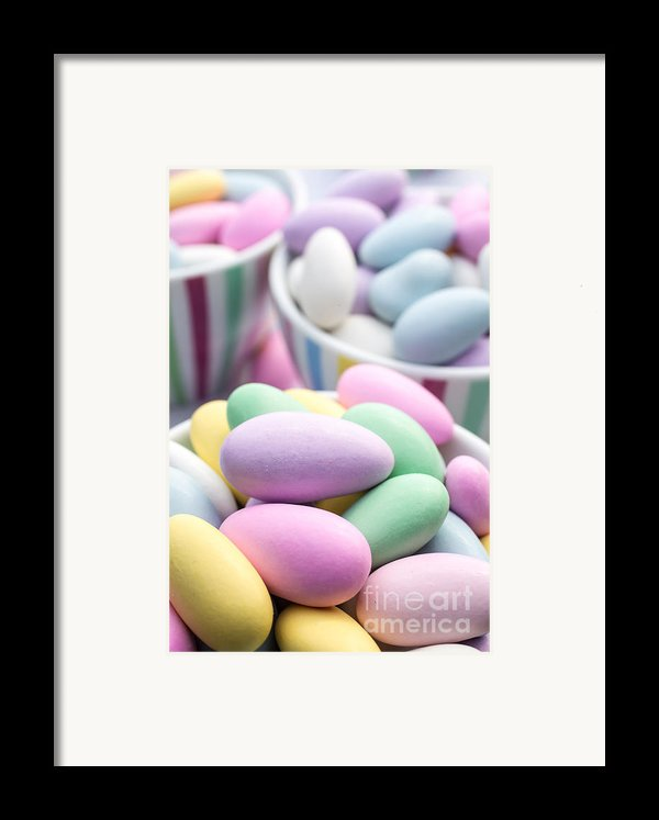 Colorful Pastel Jordan Almond Candy Framed Print By Edward Fielding