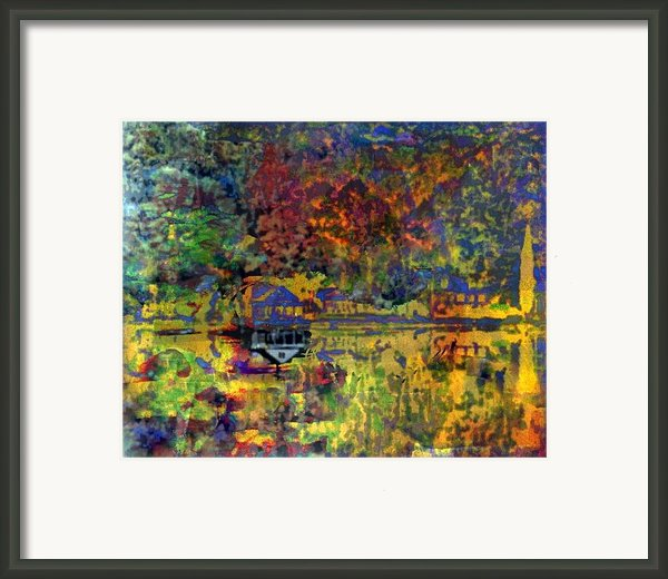 Colors On The Lake Framed Print By Yomamabird Rhonda