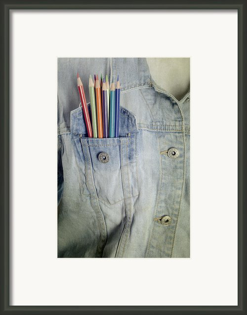 Coloured Pencils Framed Print By Joana Kruse