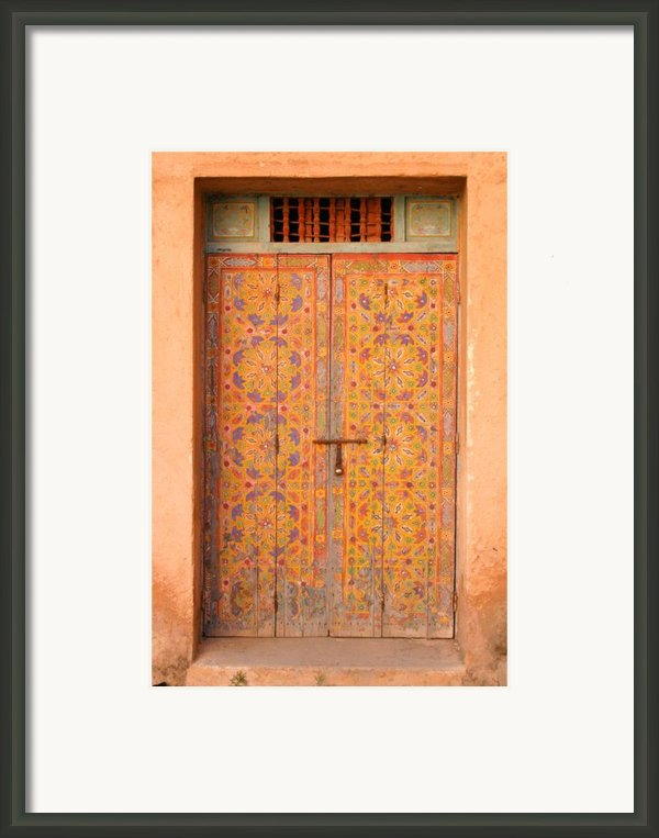 Colourful Entrance Door Sale Rabat Morocco Framed Print By Artphoto-ralph A  Ledergerber-photography