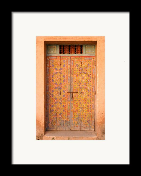 Colourful Entrance Door Sale Rabat Morocco Framed Print By Ralph A  Ledergerber-photography