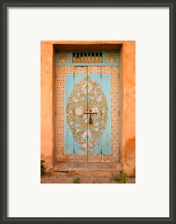 Colourful Moroccan Entrance Door Sale Rabat Morocco Framed Print By Artphoto-ralph A  Ledergerber-photography