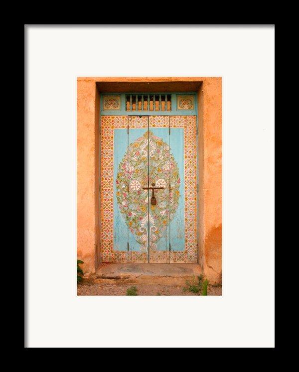 Colourful Moroccan Entrance Door Sale Rabat Morocco Framed Print By Ralph A  Ledergerber-photography