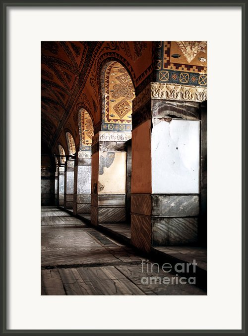 Columns Of History Framed Print By John Rizzuto