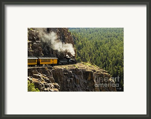 Coming Around The Bend Framed Print By Scott Pellegrin