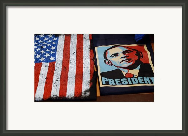 Commercialization Of The President Of The United States Framed Print By Rob Hans