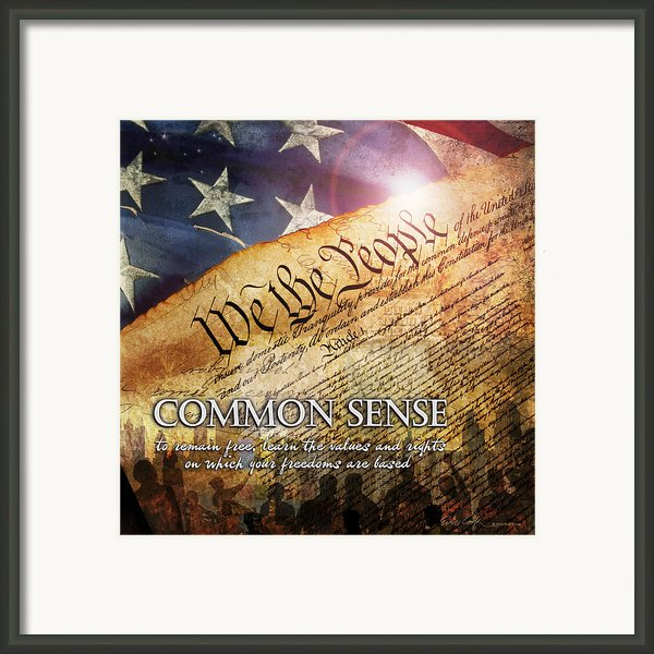 Common Sense Framed Print By Evie Cook