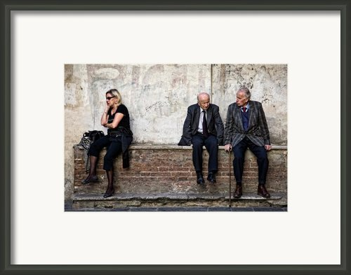 Communication Framed Print By David Bowman