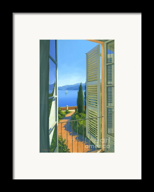 Como View Framed Print By Michael Swanson