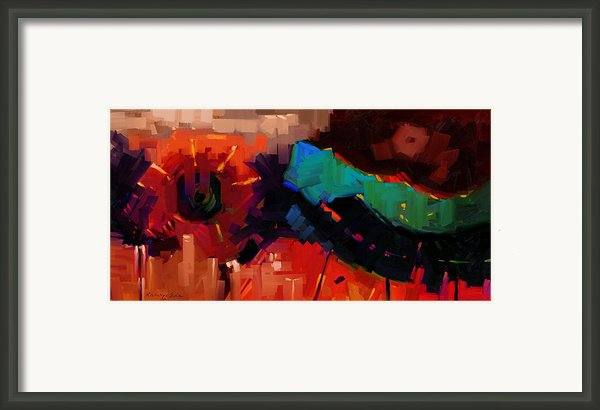 Complex 1 - Red Abstract Painting Framed Print By Kanayo Ede