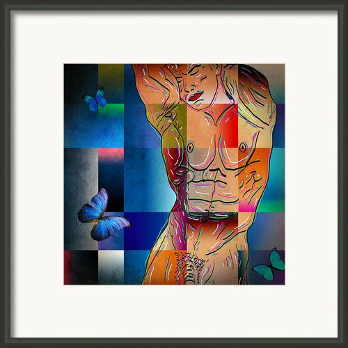 Composition In Blue Framed Print By Mark Ashkenazi