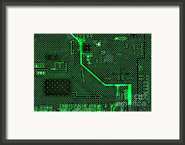 Computer Circuit Board Framed Print By Olivier Le Queinec