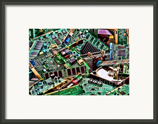 Computer Parts Framed Print By Olivier Le Queinec