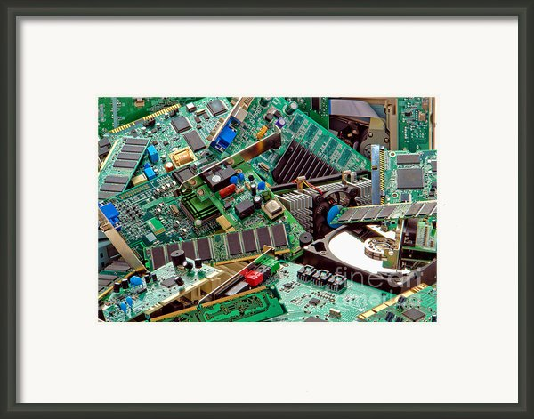 Computer Parts Too Framed Print By Olivier Le Queinec