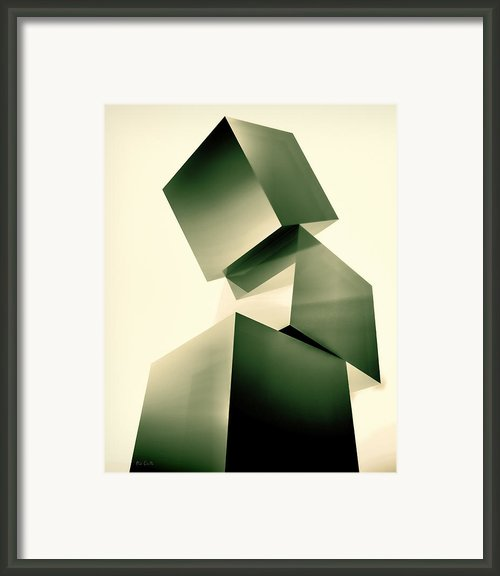 Condescending Cubes Framed Print By Bob Orsillo