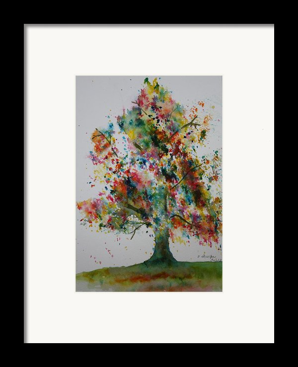 Confetti Tree Framed Print By Patsy Sharpe