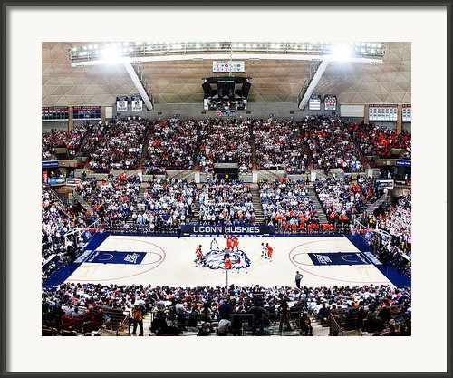Connecticut Huskies Harry A. Gampel Pavilion Framed Print By Replay Photos