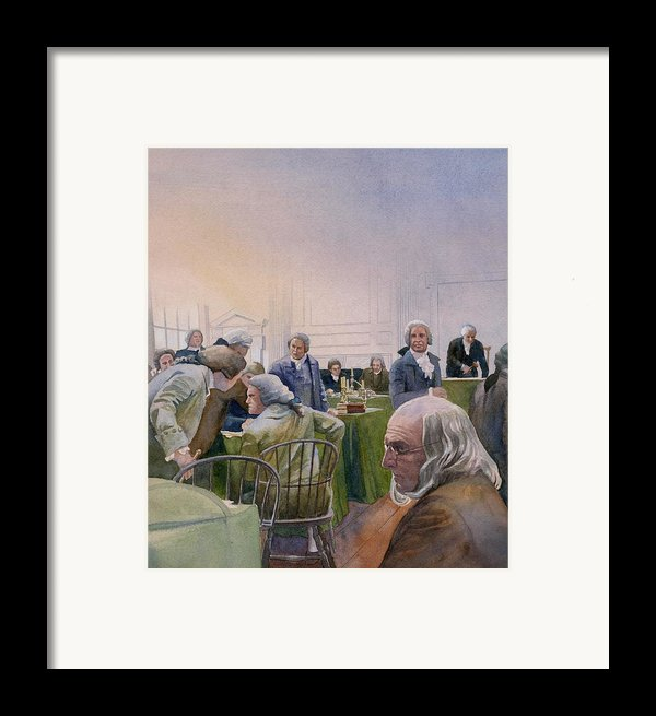 Constitutional Convention Framed Print By Rob Wood