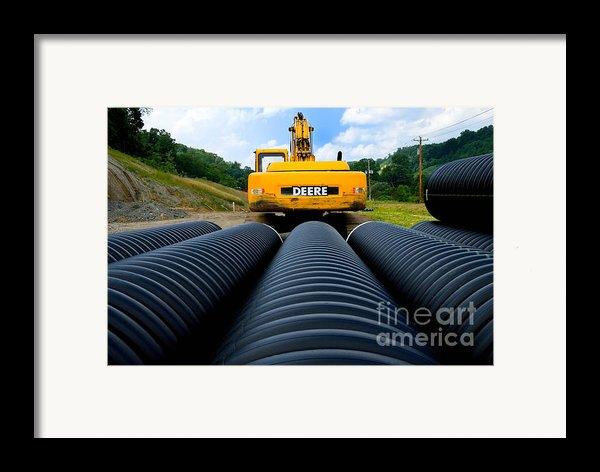 Construction Excavator Framed Print By Amy Cicconi