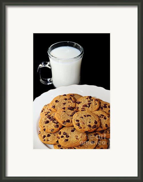 Cookies - Milk - Chocolate Chip - Baker Framed Print By Andee Photography
