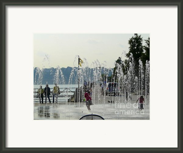 Cooling Off Framed Print By Avis  Noelle