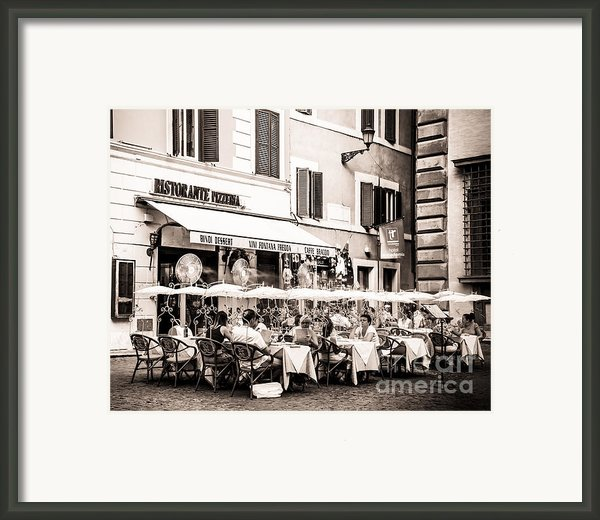 Cooling Off In Sepia Framed Print By Christina Klausen