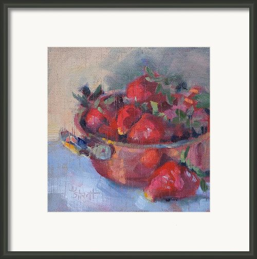 Copper And Berries Framed Print By Donna Shortt