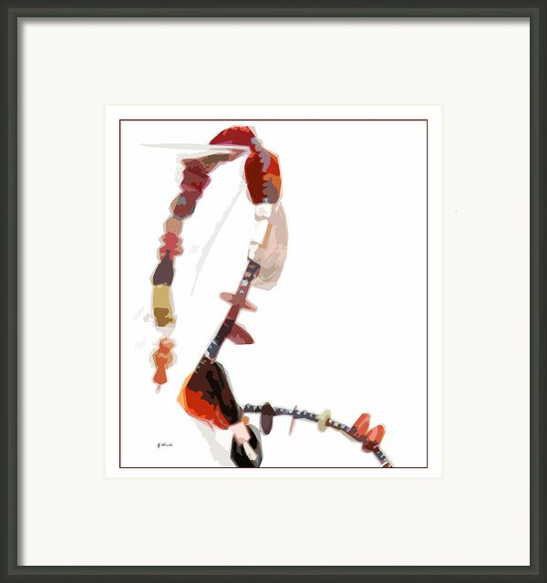 Coral And Black Glass Beads Framed Print By Gretchen Wrede