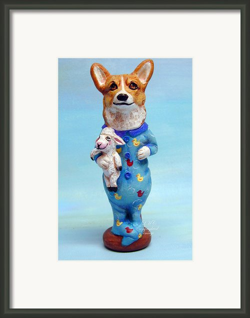 Corgi Cookie Please Framed Print By Lyn Cook