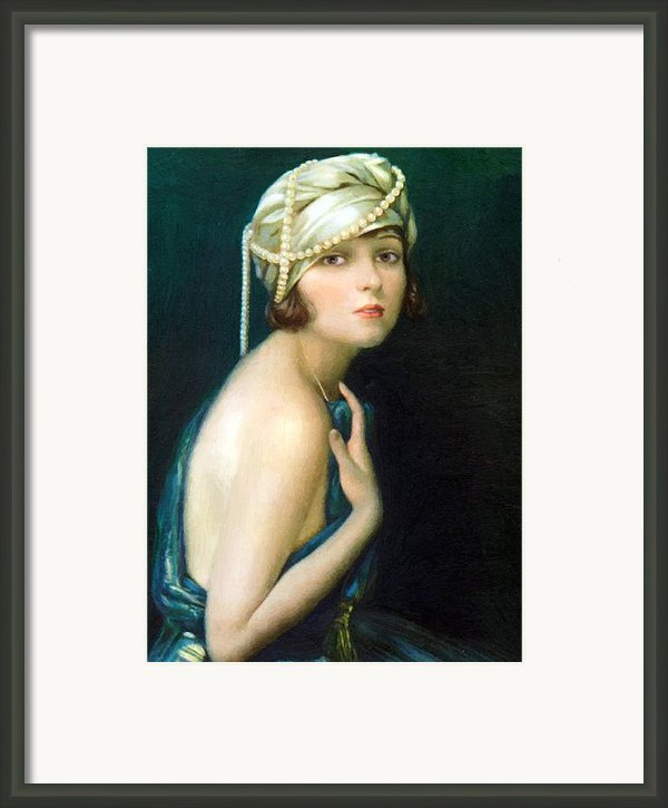 Corinne Griffith 1920 Framed Print By Stefan Kuhn