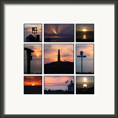 Cornish Sunsets Framed Print By Terri  Waters