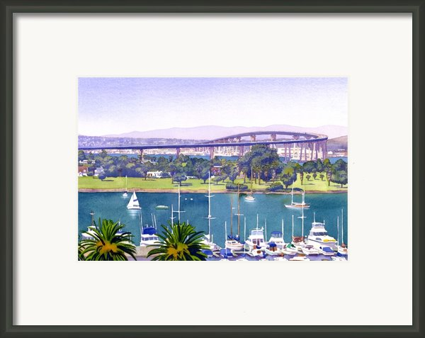 Coronado Bay Bridge Framed Print By Mary Helmreich