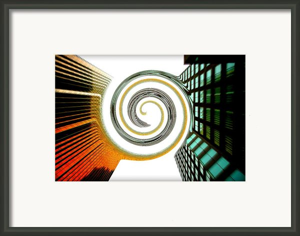 Corporate Merging Framed Print By Valentino Visentini